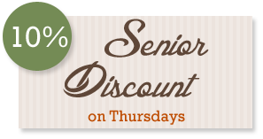 10 % senior discount thursdays